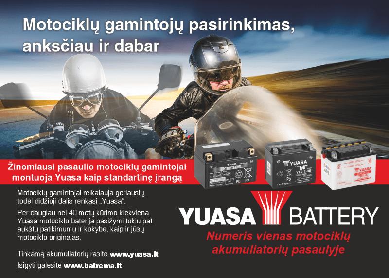 batrema motociklui